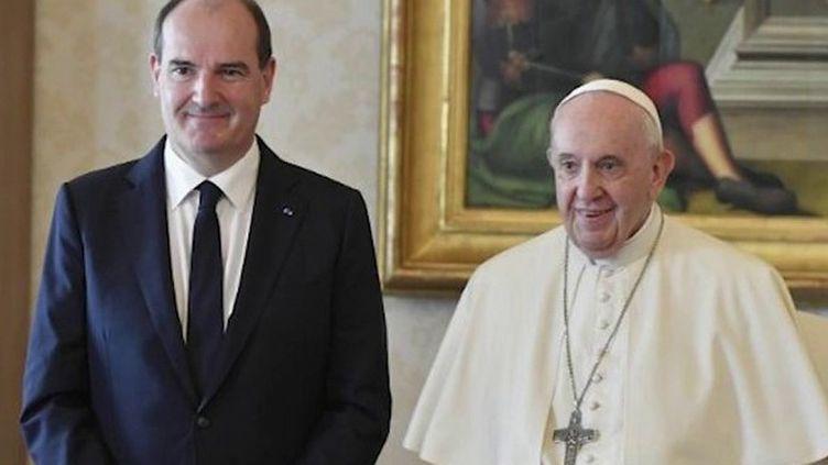 Le Premier ministre, Jean Castex, est lundi 18 octobre en visite au Vatican. Il s'est entretenu durant la matinée avec le pape François. (Vatican News)