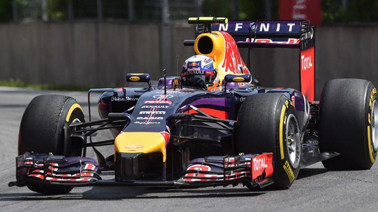 Daniel Ricciardo (Red Bull) signe sa première victoire sur un Grand Prix (NICHOLAS KAMM / AFP)