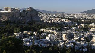 L'Acropole d'Athènes en Grèce, le 5 mai 2020 (LOUISA GOULIAMAKI / AFP)
