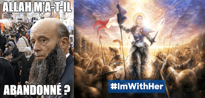 """Photomontages publiés sur le subreddit """"/r/Le_Pen"""". (/R/LE_PEN)"""