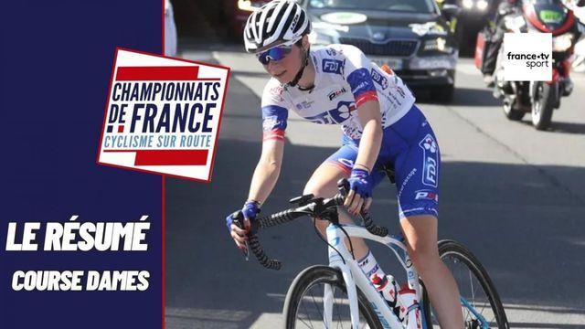 Championnats de France de cyclisme sur route : le résumé de la course en ligue elite dames