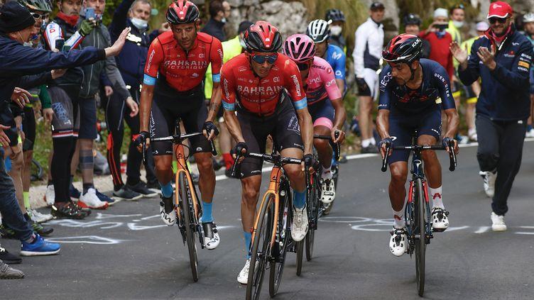 Le peloton lors de la 17e étape du Giro d'Italie. (LUCA BETTINI / POOL)