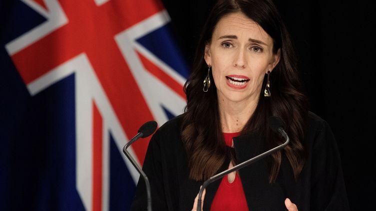 La Première ministre néo-zélandaise, Jacinda Ardern, à Wellington, le 16 décembre 2019. (MARTY MELVILLE / AFP)