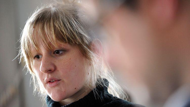 Cécile Bourgeon, la mère de la petite Fiona, est confrontée à son compagnon, le 8 novembre 2013. (MAXPPP)