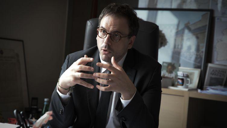 Le directeur de l'ARS d'Île-de-France, Aurélien Rousseau, le 10 mars 2020. (PHILIPPE DE POULPIQUET / MAXPPP)