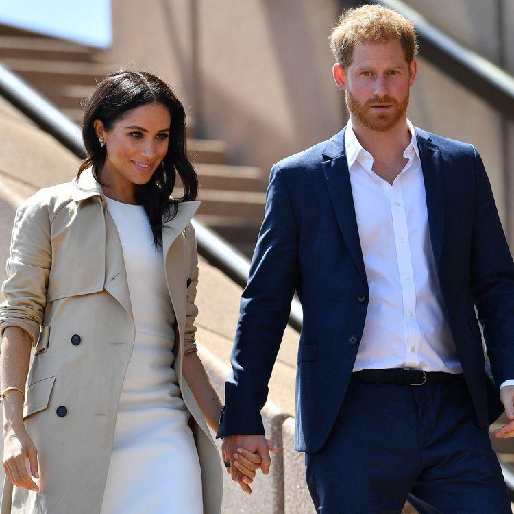 La duchesse Meghan et le prince Harry, à Sydney, en Australie, le 16 octobre 2018. (SAEED KHAN / AFP)