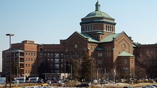 Vue générale de l'Hôpital du Sacré-Cœur de Montréal à Montréal, au Canada.   (MAXPPP)