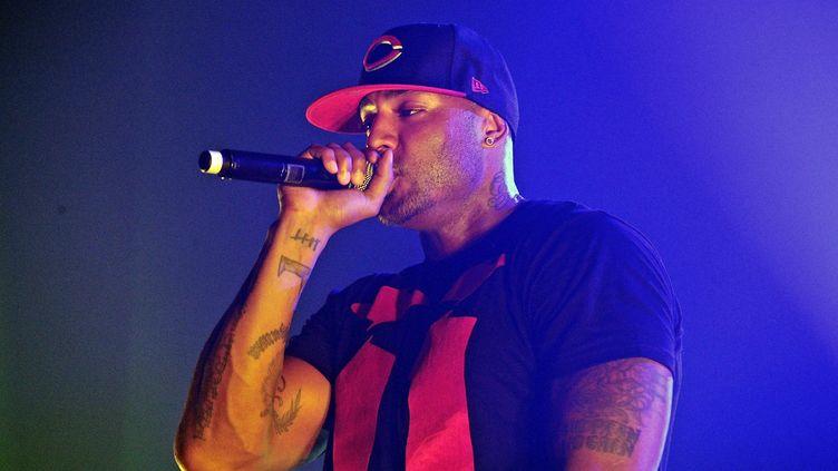 Le rappeur Booba, le 2 avril 2011 lors d'un concert au Havre (Seine-Maritime). (COLLOT / SIPA)