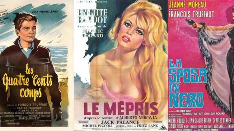Trois affiches de la collection de Jean-Paul Foin en vente le 25 avril 2013 à Drouot.  (Néret-Minet  Tessier & Sarrou)