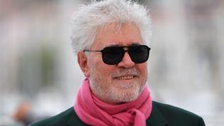 Pedro Almodovar à Cannes en mai 2019, où il présentait son dernier opus,Doleur et Gloire. (ALBERTO PIZZOLI / AFP)