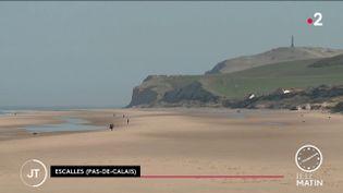Sur une plage dans le Pas-de-Calais. (France 2)