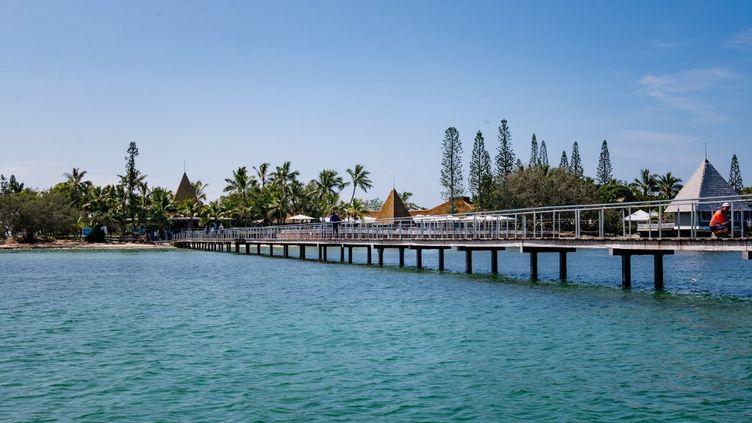 L'îlot Maître, à Nouméa (Nouvelle-Calédonie), le 19 février 2021. (DELPHINE MAYEUR / HANS LUCAS / AFP)