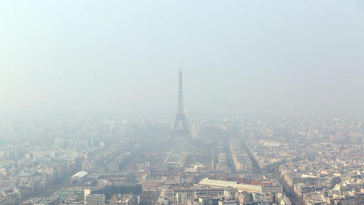 Paris, le 18 mars 2015, jour de pic de pollution, selon Airparif. (  MAXPPP)