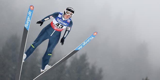 Coline Mattel, l'espoir français du saut à ski féminin.