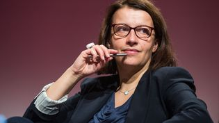 La députée écologiste Cécile Duflot lors ducongrès des Jeunes socialistes à Paris, le 19 décembre 2015. (REVELLI-BEAUMONT / SIPA)
