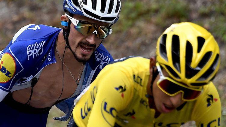 Le Français Julian Alaphilippe lors de la 20e étape du Tour de France entreAlbertville and Val Thorens le 27 juillet 2019. (JEFF PACHOUD / AFP)