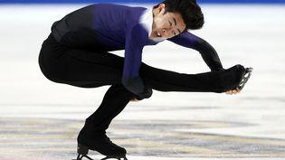 Nathan Chen au Skate America, première compétition du Grand Prix ISU de patinage artistique, le 23 octobre à Las Vegas. (JAMIE SQUIRE / AFP)