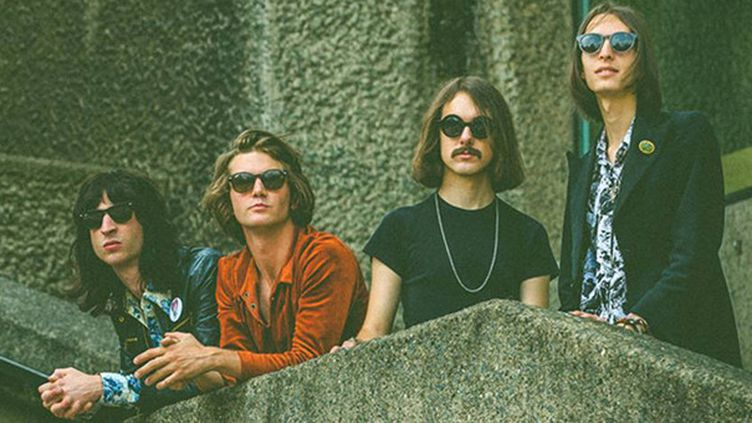 Telegram , jeune groupe de rock anglais flamboyant, attendu au festival des Inrocks 2014.  (Pooneh Ghana)