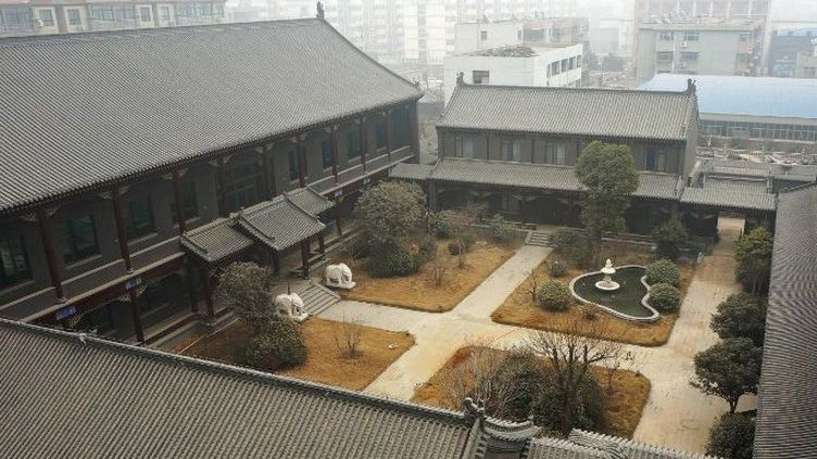 La résidence de l'ancien général Gu Junshan à Puyang, province chinoise du Henan (centre). (CHINA OUT AFP PHOTO)