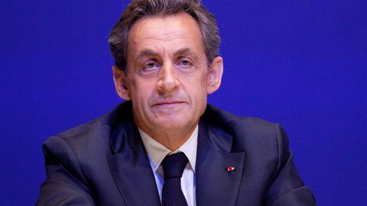 Le président de l'UMP, Nicolas Sarkozy, le 27 février 2015 à Paris. (CITIZENSIDE / YANN BOHAC / AFP)