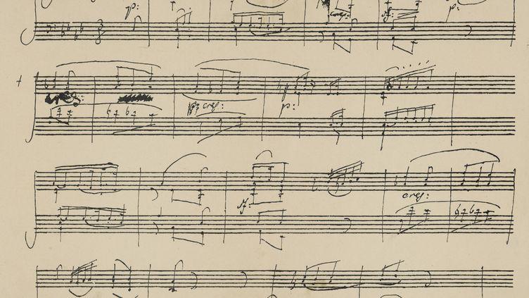 Partition de BeethovenPiano sonata, opus 26 (MARY EVANS / SIPA)