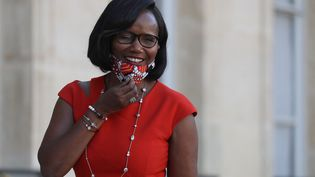 La ministre déléguée à l'Egalité femmes-hommes, Elisabeth Moreno, le 14 septembre 2020 à l'Elysée. (LUDOVIC MARIN / AFP)