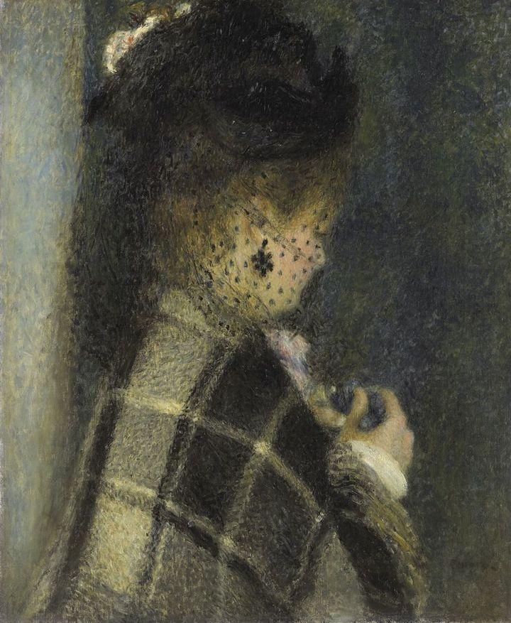 Pierre-Auguste Renoir, Jeune femme à la voilette, 1870 (Musée  d'Orsay, dist. RMN / Patrice Schmidt)
