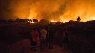 Un incendie ravage une forêt à Verin, dans l'ouest de l'Espagne, le 4 août 2017. (MAXPPP)