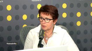 Christiane Lambert, présidente de la FNSEA. (FRANCEINFO / RADIOFRANCE)