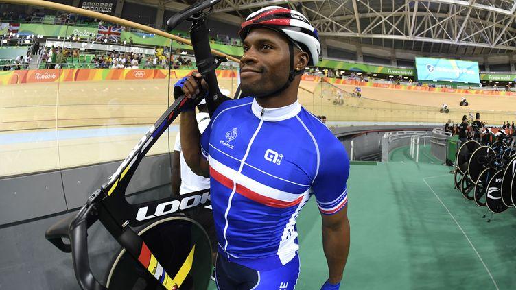 A Rio en 2016, Grégory Baugé avait décroché sa 4e et dernière médaille olympique. (ERIC FEFERBERG / AFP)