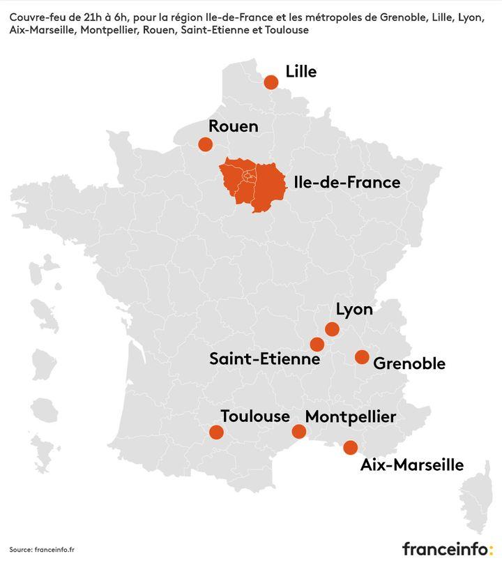 Covid 19 Cinq Questions Sur Le Couvre Feu Instaure A Partir De Samedi En Ile De France Et Dans Huit Metropoles