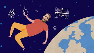 L'astronaute français Thomas Pesquet doit décoller pour la Station spatiale internationale,le 22 avril 2021, pour une durée de six mois. (ELLEN LOZON / FRANCEINFO)