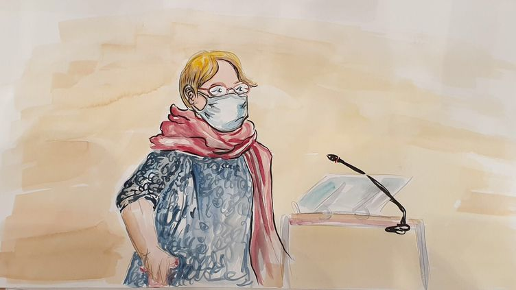 Denise Charbonnier, la mère de Charb, le dessinateur de Charlie Hebdo, lors du procès des attentats de janvier 2015 à Paris, le 10 septembre 2020. (Elisabeth de Pourquery)