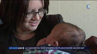 Corinne a accouché malgré son cancer du sein. (FRANCE 3)