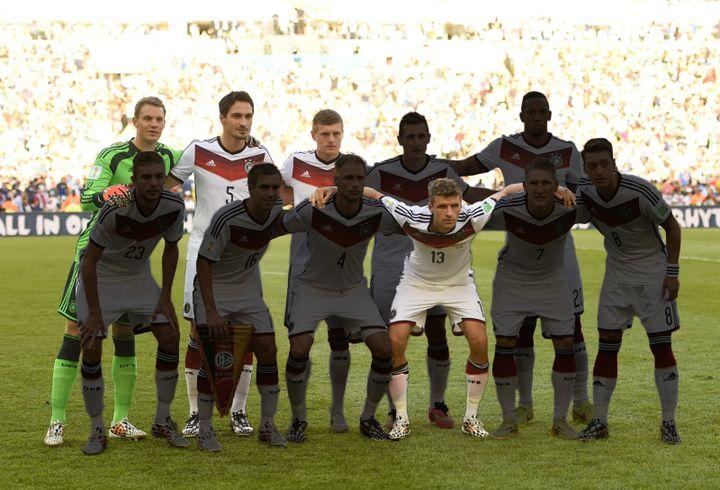 Seulement quatre joueurs titulaires lors de la finale du Mondial 2014 seront présents à l'Euro 2021 : Manuel Neuer, Mats Hummels, Toni Kroos et Thomas Müller (de gauche à droite). (AFP)