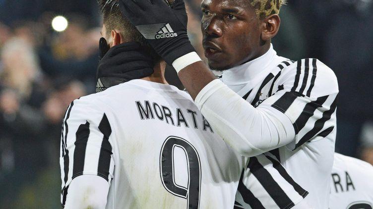 Le bonheur des Turinois Morata et Pogba (ANDREA DI MARCO / ANSA)
