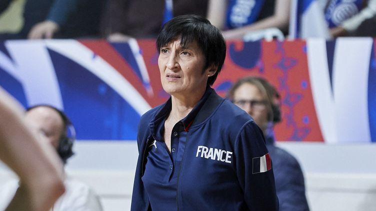 La sélectionneuse de l'équipe de France féminine de basket, Valérie Garnier, en février 2020. (ANN-DEE LAMOUR / ANN-DEE LAMOUR)