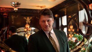 Rodrigo Basilicati-Cardin, président de la société Pierre Cardin depuis le 29 octobre 2019,chez Maxim's le 16 mars 2021 (BERTRAND GUAY / AFP)