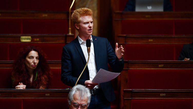 Le député La France insoumise du Nord, Adrien Quatennens, le 26 mai 2020 à l'Assemblée nationale. (CHRISTOPHE ARCHAMBAULT / POOL)