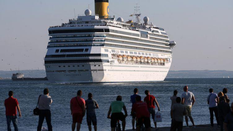 23 septembre 2013 àThessalonique en Grèce, vue du Costa Pacifica (SAKIS MITROLIDIS / AFP)