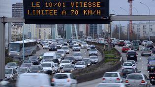 Le périphérique parisien, le 4 janvier 2014. (BERTRAND GUAY / AFP)