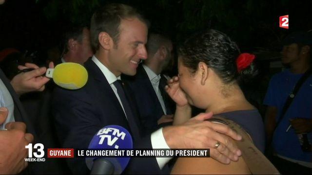 Guyane : Emmanuel Macron au contact de la population à Cayenne