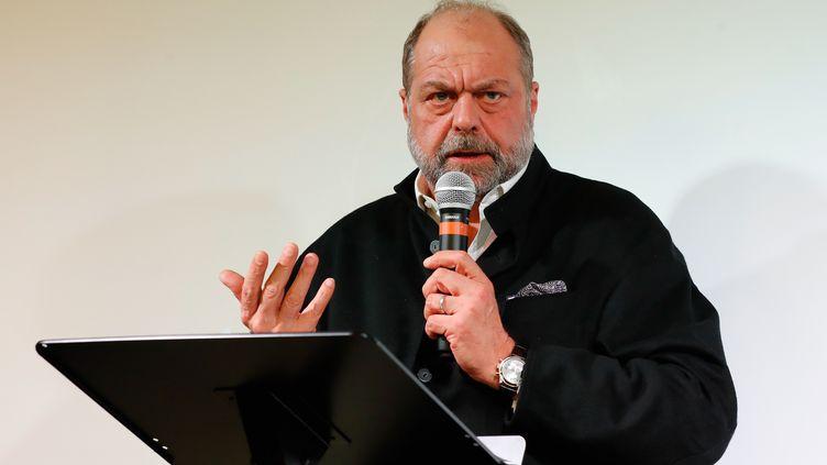 Éric Dupond-Moretti, avocat pénaliste, lors d'une conférence de presse à Paris, le 19 février 2020. (FRANCOIS GUILLOT / AFP)