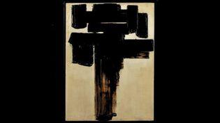 """""""Peinture 81 x 60 cm, 3 décembre 1956"""", oeuvre de Jean Soulages, ayant appartenu à Léopold Sédar Senghor, mise aux enchères par la maison de venteCaen Enchères le samedi 23 janvier 2021 (Caen Enchères)"""