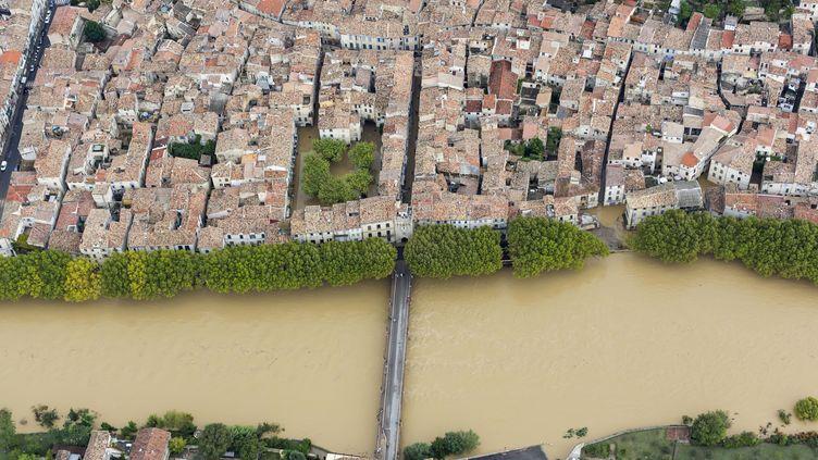 La Vidourle en crue à Sommières (Gard), le 18 septembre 2014. (XAVIER CAILHOL / CITIZENSIDE.COM / AFP)