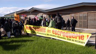 BURE (MEUSE) LE 23/05/13 - Le premier débat public sur le Centre industriel de stockage géologique (Cigéo) ( MAXPPP)