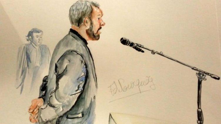 L'avocat Emmanuel Riglaire lors de sa comparution devant le trbunal correctionnel de Lille dans le cadre du procès de l'affaire dite du Carlton, le 6 février 2015. (ELISABETH DE POURQUERY / FRANCETV INFO)