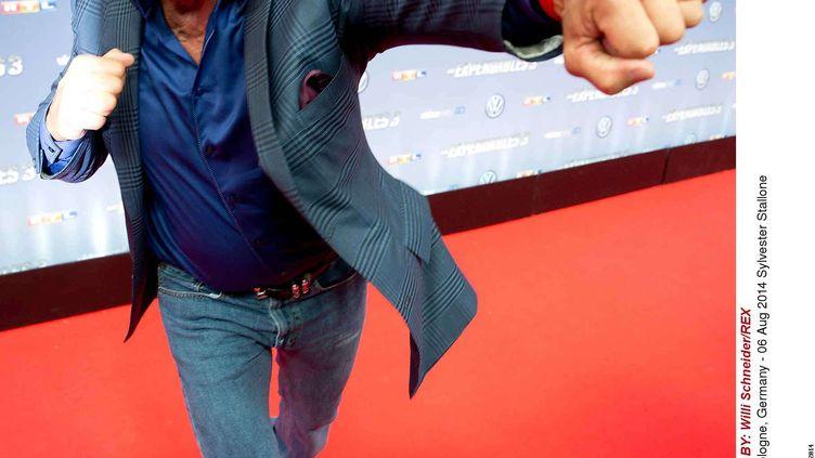 """Sylvester Stallone lors de l'avant-première du film """"Expendables 3"""" à Cologne (Allemagne), le 6 août 2014. (WILLI SCHNEIDER/REX/REX/SIPA / REX)"""