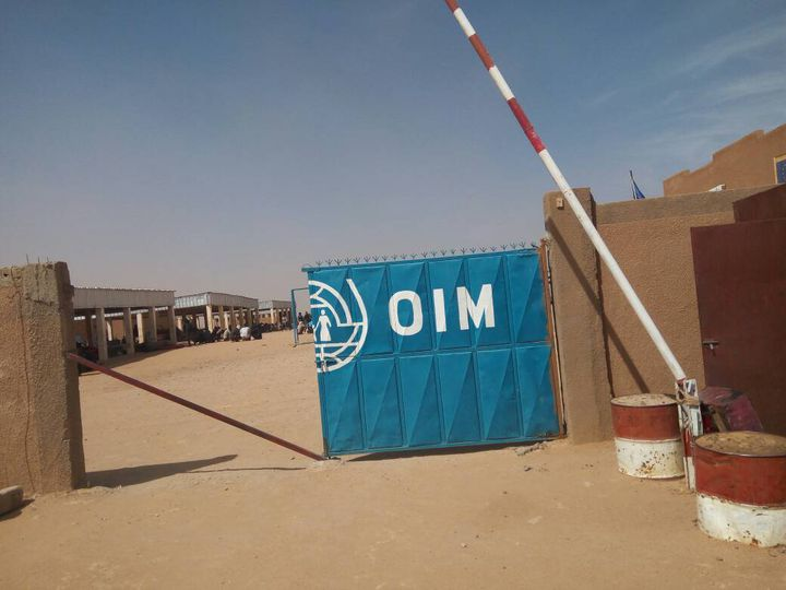L'entrée du centre de l'OIM. (SANDRINE ETOA-ANDEGUE / RADIO FRANCE)