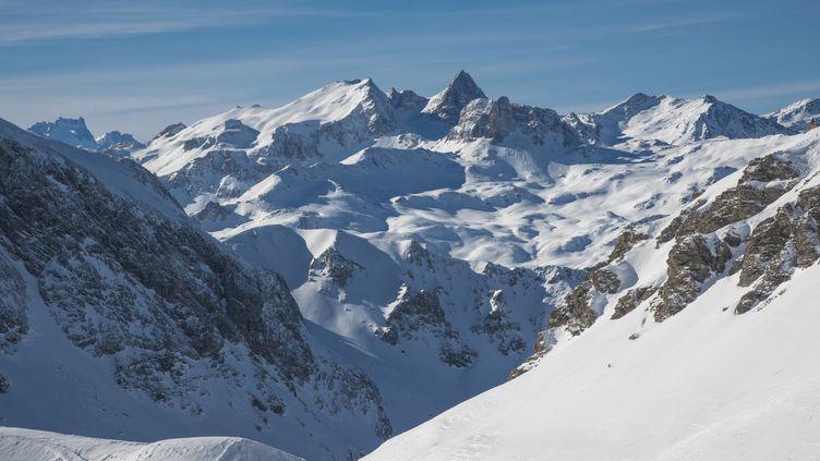 La montagne à Valfréjus (Savoie), où trois Néerlandais ont été emportés par une avalanche, le 7 mars 2017. (GILLES LANSARD / ONLY FRANCE / AFP)